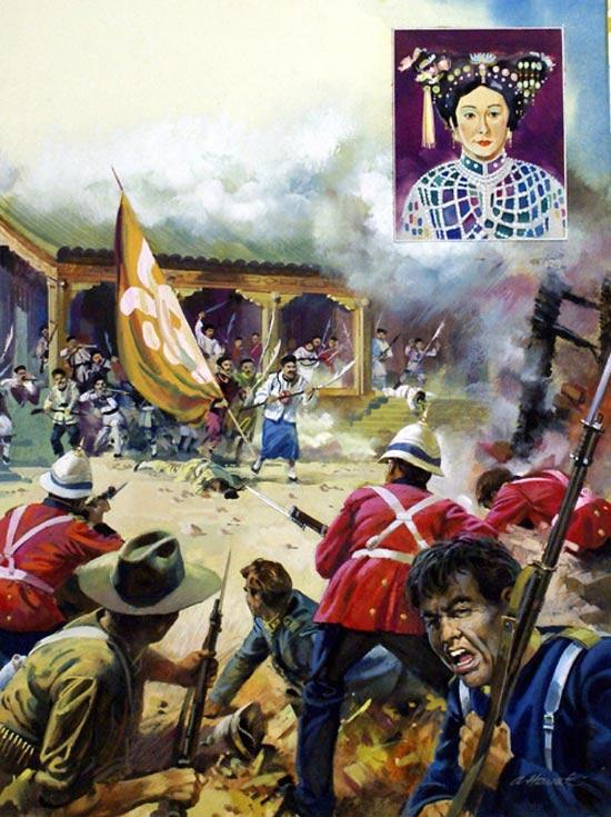 西方漫画式的八国联军明信片