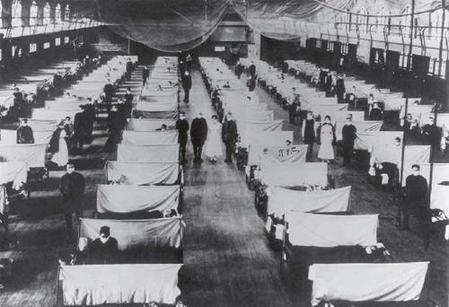"""1918年8月19日 欧洲爆发了""""西班牙流感"""""""