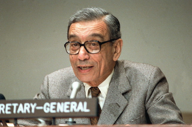 1996年12月31日 第一位来自非洲的联合国秘书长加利离任
